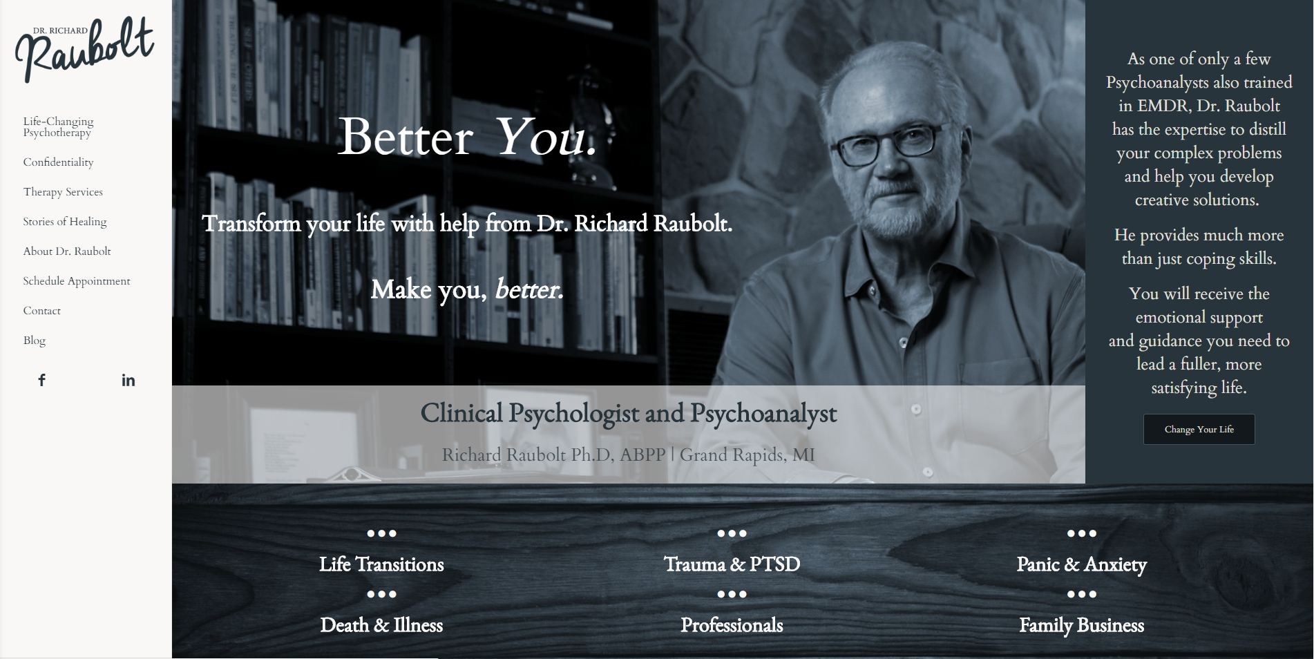 Dr Richard Raubolt Website by MoxieMen, Incorporated - MoxieMenInc.com