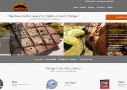 Hudsonville Grille Website developed by MoxieMenInc.com