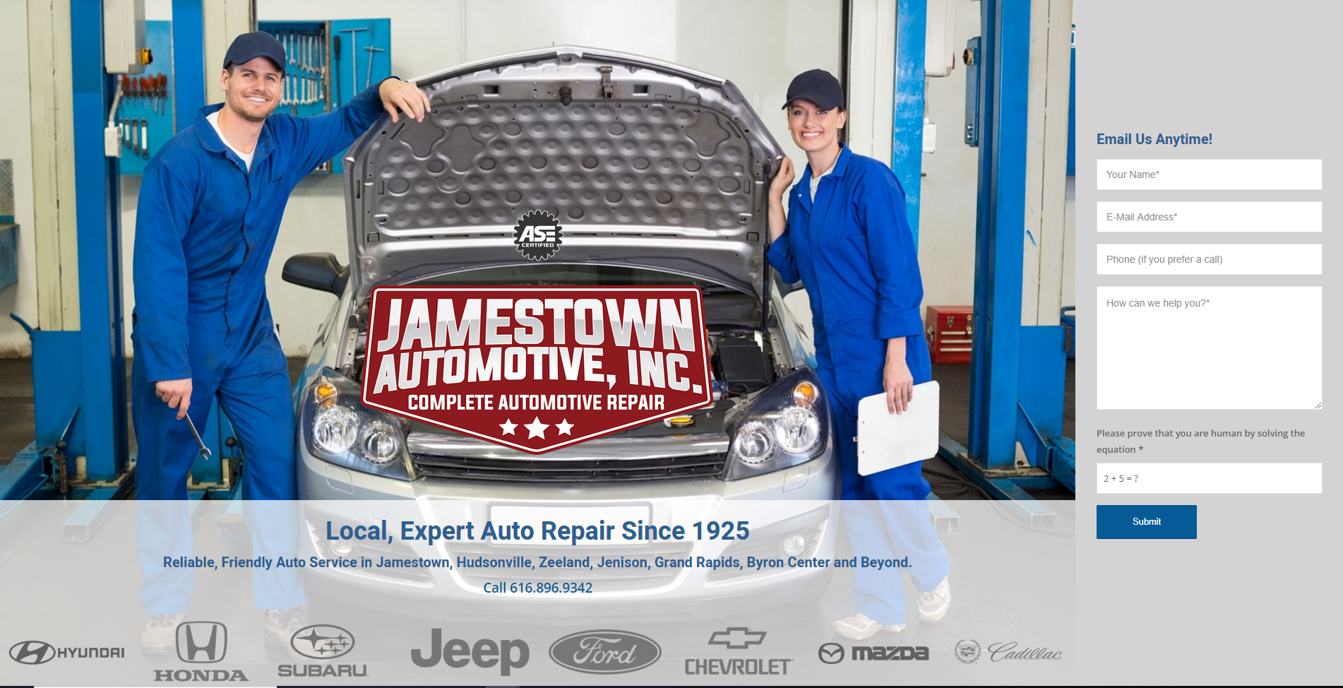 Jamestown Auto website by MoxieMen, Incorporated