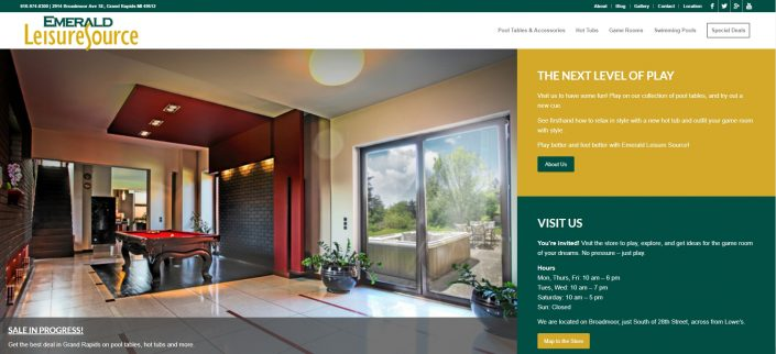 Emerald Leisure Source website by MoxieMen, Inc.