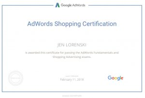 Google AdWords Certified Consultant for Google Shopping and Search - MoxieMenInc.com