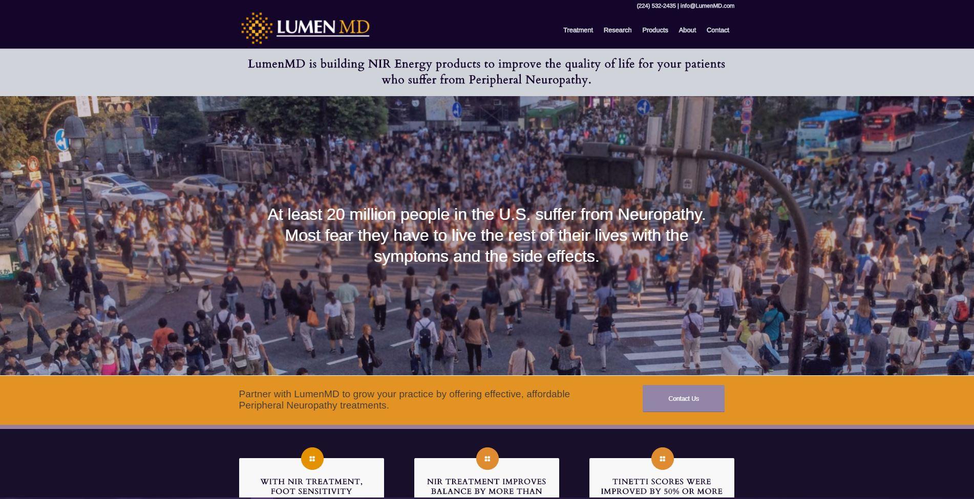 LumenMD Website developed by MoxieMenInc.com